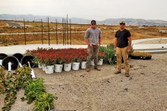 Changing Seasons Nursery and Landscape delivering trees and shrubs to the IGSFMM site.
