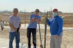 Pocatello Rotary Club members helping on Landscaping Day at IGSFMM.