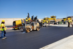 Idaho Materials and Construction paving the IGSFMM parking lot on 4-20-2021.