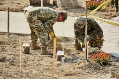 Soldiers from the Idaho National Guard help plant trees and shrubs at the IGSFMM site on October 3,2020.