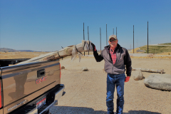 JJ Riesberg from Electrical Wholesale delivering light poles for the IGSFMM project.