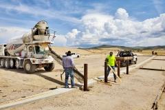 Keller Construction finishing the sidewalk at the IGSFMM parking lot.