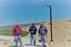 Ken Pape, Nathan Wells and Pat Pape at the IGSFMM site on May 3, 2021.