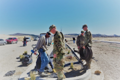 Larry Webb & Idaho National Guardsmen help with the landscaping at the IGSFMM site on 4-9-2021.