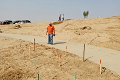 Lowes of Pocatello donated construction stakes to help identify where trees and shrubs should be planted at the IGSFMM site.
