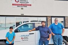 Materials Testing & Inspection an Atlas Company. Left to right: Stephanie Borchert, Daniel Davies and Paul DesFosses.