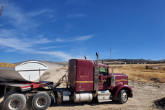 McNabb Farms delivering decorative copper crushed rock to the IGSFMM site.