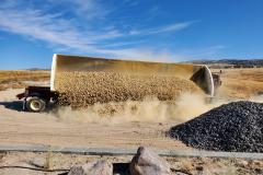 McNabb Farms delivering decorative copper crushed rock.