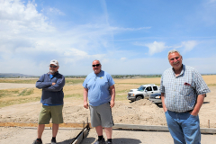 Nathan Wells, Pat Pape & Ken Pape at the IGSFMM site on May 11, 2020.