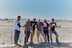 PTSD Veteran Athletes help with landscaping at the IGSFMM site on 4-9-2021.