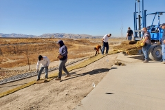 Laying sod at the IGSFMM. Sod provided by Pocatello Sod A Division of Green Works Inc.