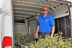 R & D Wholesale Nursery delivering trees and shrubs to the IGSFMM site.