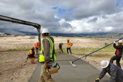 Starr Corporation & Pocatello Ready Mix - Cement work on the IGSFMM pathway.