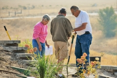 Volunteers help plant trees and shrubs on October 3, 2020 at the IGSFMM site.