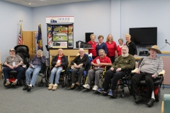 Idaho Gold Star Families Memorial Monument representatives vist the Idaho State Veterans Home in Pocatello.
