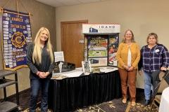 Idaho Gold Star Families Memorial Monument representatives visit the Bannock Civitan Club.