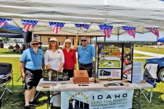 Idaho Gold Star Families Memorial Monument booth at the Bannock County Independence Day Classy Car Club Show.