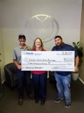 Bisharat Insurance check presentation.
