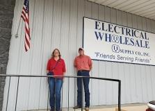 Electrical Wholesale – Associate Sponsor. Rebecca Webb & J.J. Riesberg.