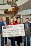 Farm Bureau Sponsor Check Presentation. Pictured (left to right): Paul Robert, Farm Bureau CEO, Rebecca Webb, Jean Haneke,  Jason Williams,  Farm Bureau Treasurer