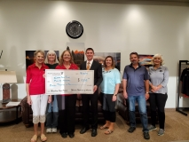Modern Woodmen check presentation.