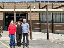 Partner Steel Company – Bronze Sponsor. Left to right: Rebecca Webb, Debbie Eskelson and Rick Eskelson.