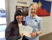 Pocatello - Chubbuck Chamber of Commerce, Leadership Pocatello - Chubbuck, Pocatello Chiefs checks presentation to GSM.