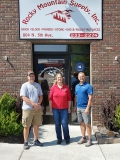 Rocky Mountain Supply - Silver Sponsor. Left to right: Tom Higgins, Rebecca Webb and Mark Gibson.