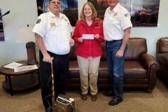 VFW Post 735 donation check presentation.