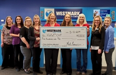 Westmark Credit Union check presentation.