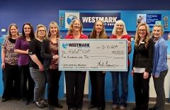 Westmark Credit Union check presentation.