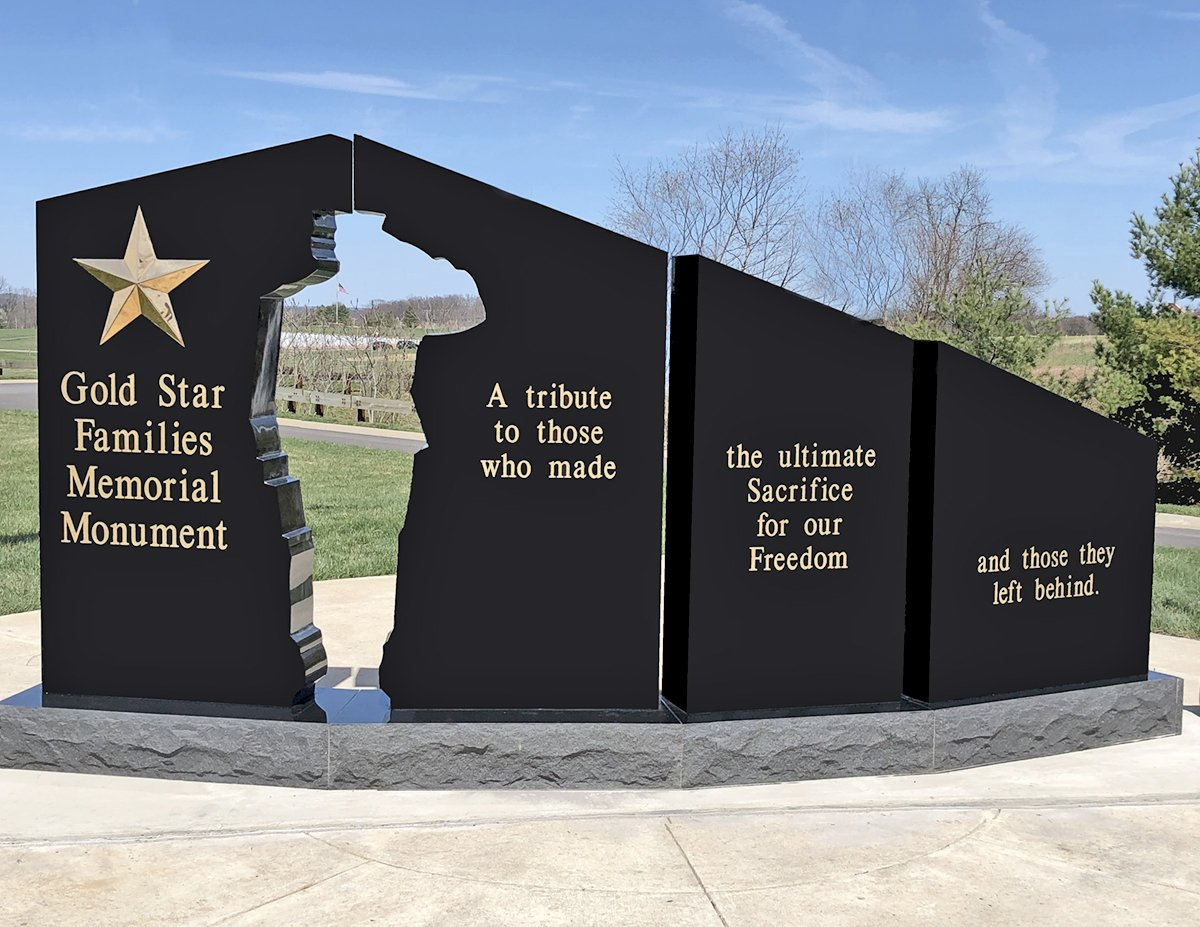 Idaho Gold Star Families Memorial Monument - Example