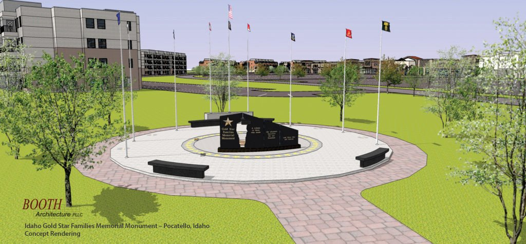 Idaho Gold Star Families Memorial Monument - Concept Rendering