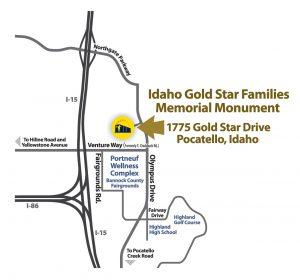 Idaho Gold Star Families Memorial Monument - 1775 Gold Star Drive, Pocatello, Idaho